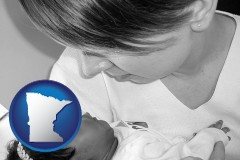 minnesota an adopted baby with its adoptive mother